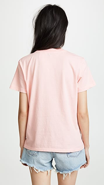 7 For All Mankind MANKIND Baby Tee with Embroidery