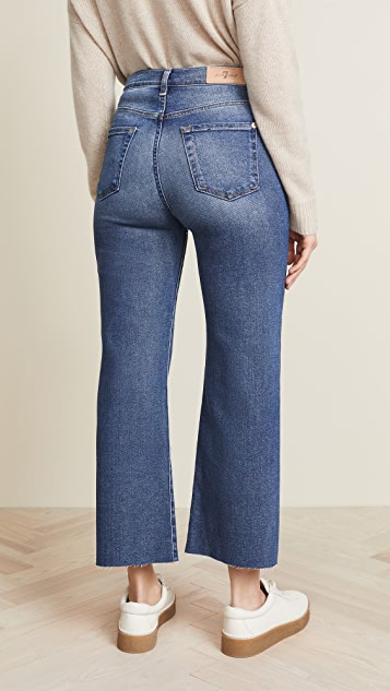 7 For All Mankind Cropped Alexa Trouser Jeans