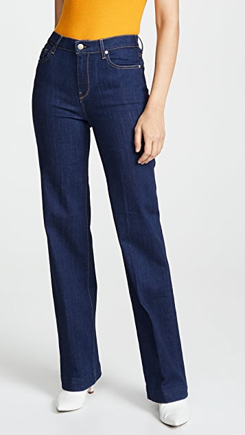 7 For All Mankind Alexa Trouser Jeans with Creasing
