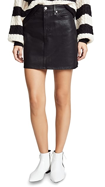 7 For All Mankind The Coated Miniskirt
