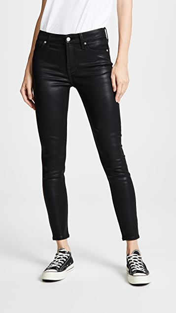 023d115ebaf9e 7 For All Mankind The B(air) Coated Ankle Skinny Jeans   SHOPBOP