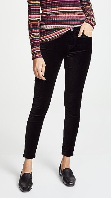 7 For All Mankind The Ankle Velvet Skinny Pants