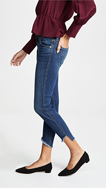 7 For All Mankind The Ankle Skinny Jeans with Angled Hem