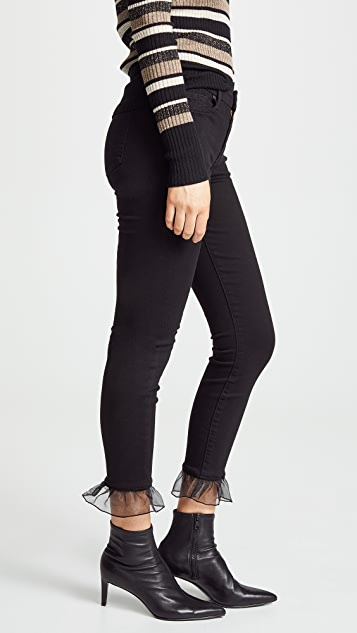 7 For All Mankind The Ankle Skinny Jeans with Organza Hem