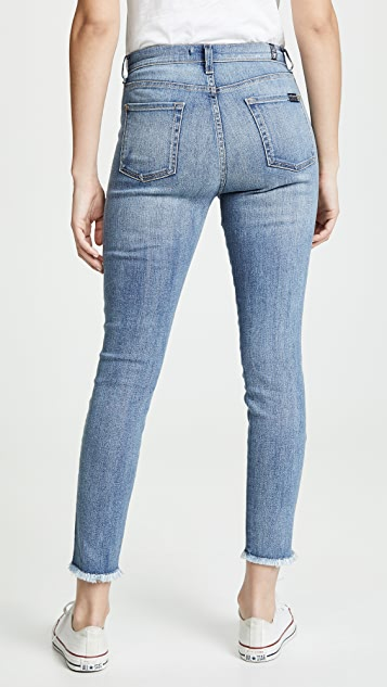 7 For All Mankind Ankle Skinny Jeans with Patches