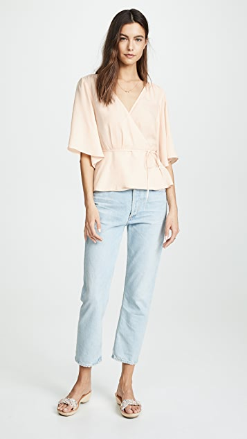 7 For All Mankind Wrap Front Top