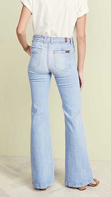 7 For All Mankind Georgia Wide Leg Jeans