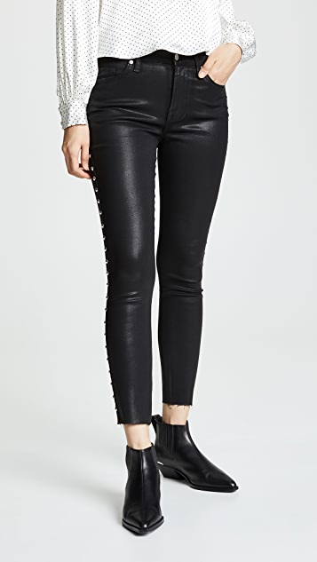 7 For All Mankind Studded Ankle Skinny Jeans