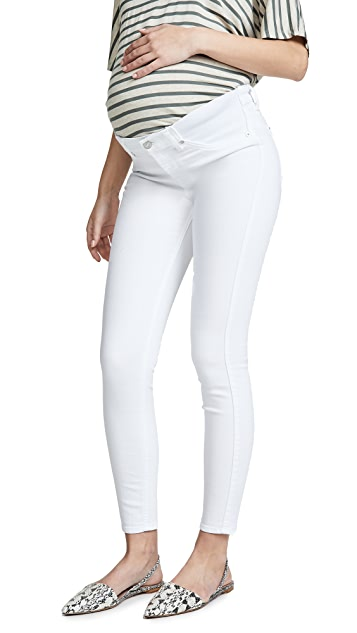 7 For All Mankind Ankle Skinny Maternity Jeans with Faux Front Pockets