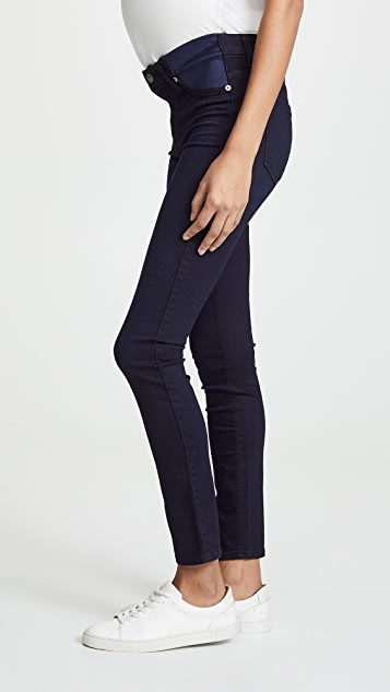 7 For All Mankind High Rise Skinny Maternity Jeans