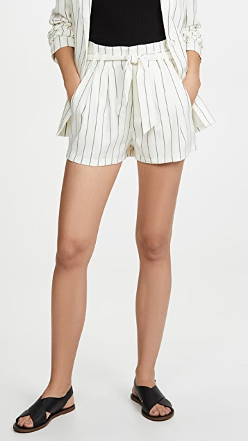 7 For All Mankind Tie Waist Shorts