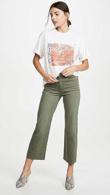 7 For All Mankind Укороченные джинсы Alexa с обрезанным нижним краем