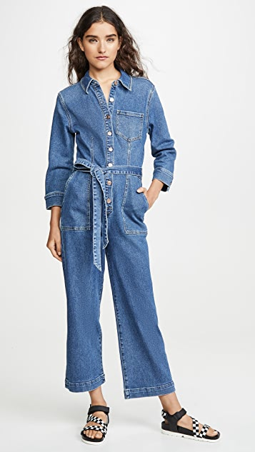 7 For All Mankind Cropped Alexa Playsuit