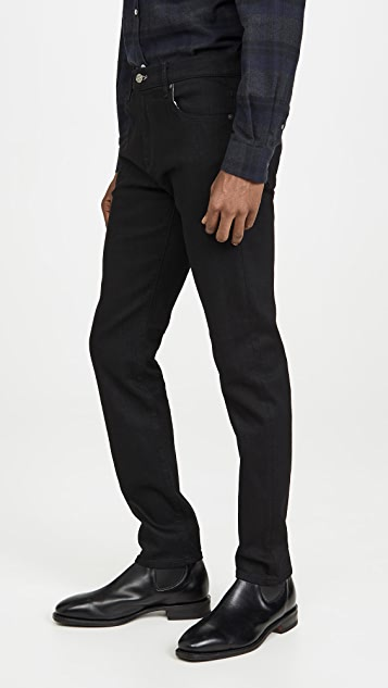 7 For All Mankind Slim Taper Adrien Jeans in True Black