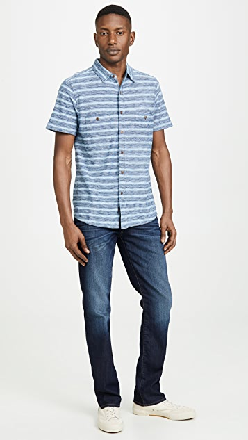 7 For All Mankind Straight Fit Airweft Jeans in Commotion