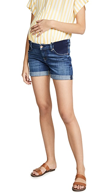 7 For All Mankind Maternity Mid Roll Shorts