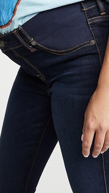 7 For All Mankind 孕妇装紧身九分牛仔裤