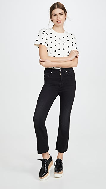 7 For All Mankind High Rise Slim Kick Jeans