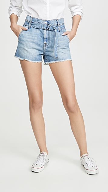 7 For All Mankind Paperbag Shorts