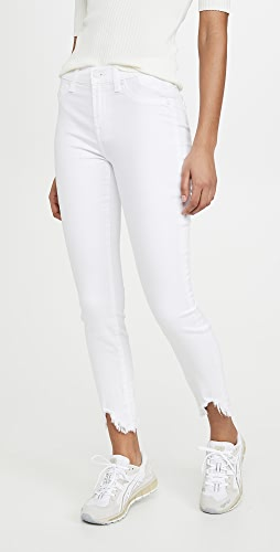 7 For All Mankind - Ankle Skinny Jeans With Wave Hem
