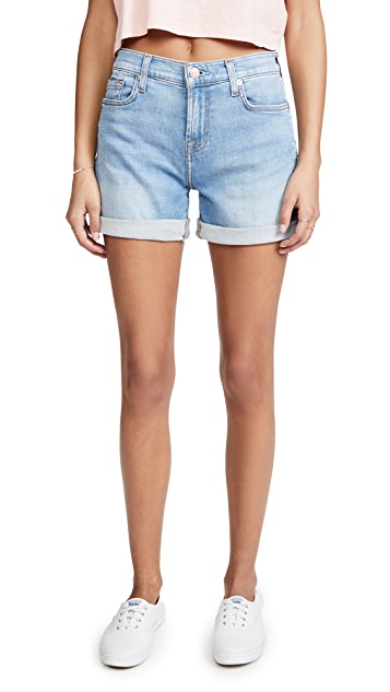 7 For All Mankind Mid Roll Shorts