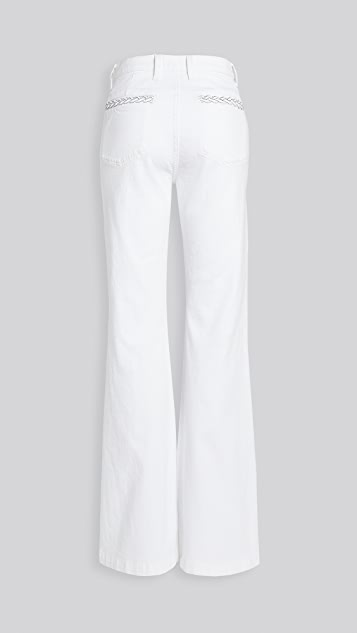 7 For All Mankind Georgia Braided Welt Jeans