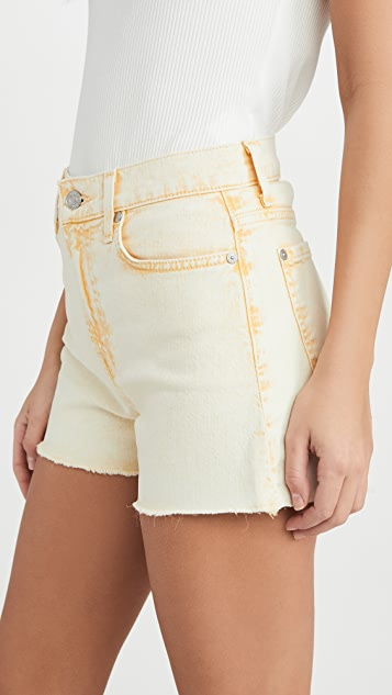 7 For All Mankind High Waist Shorts with Fray Hem