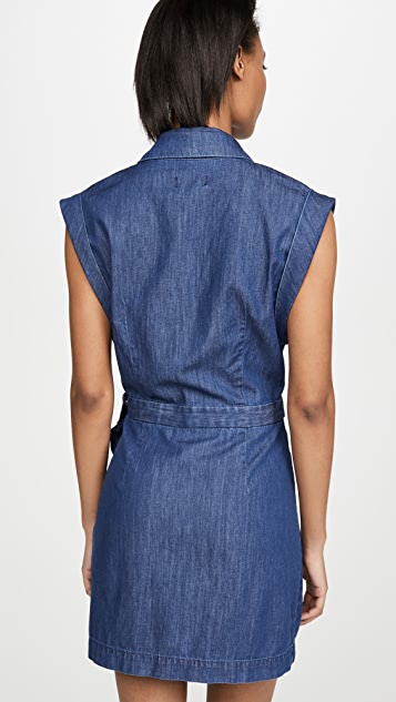 7 For All Mankind Ruffle Blazer Dress
