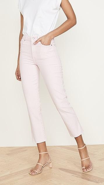 7 For All Mankind Укороченные прямые джинсы с высокой талией
