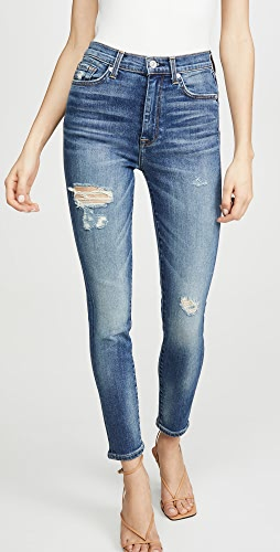 7 For All Mankind - High Waist Ankle Skinny Jeans
