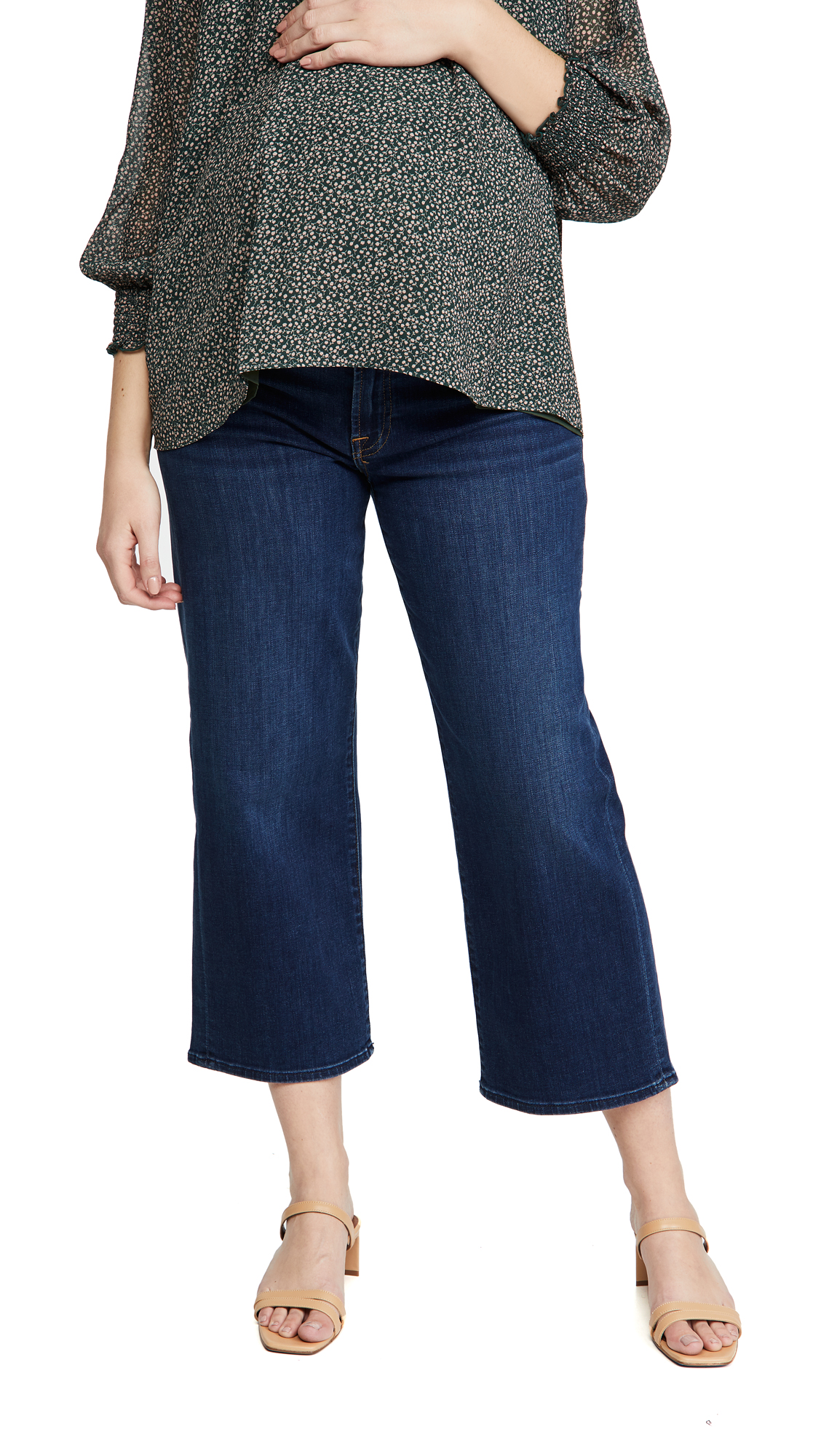 7 For All Mankind Maternity Cropped Alexa Jeans