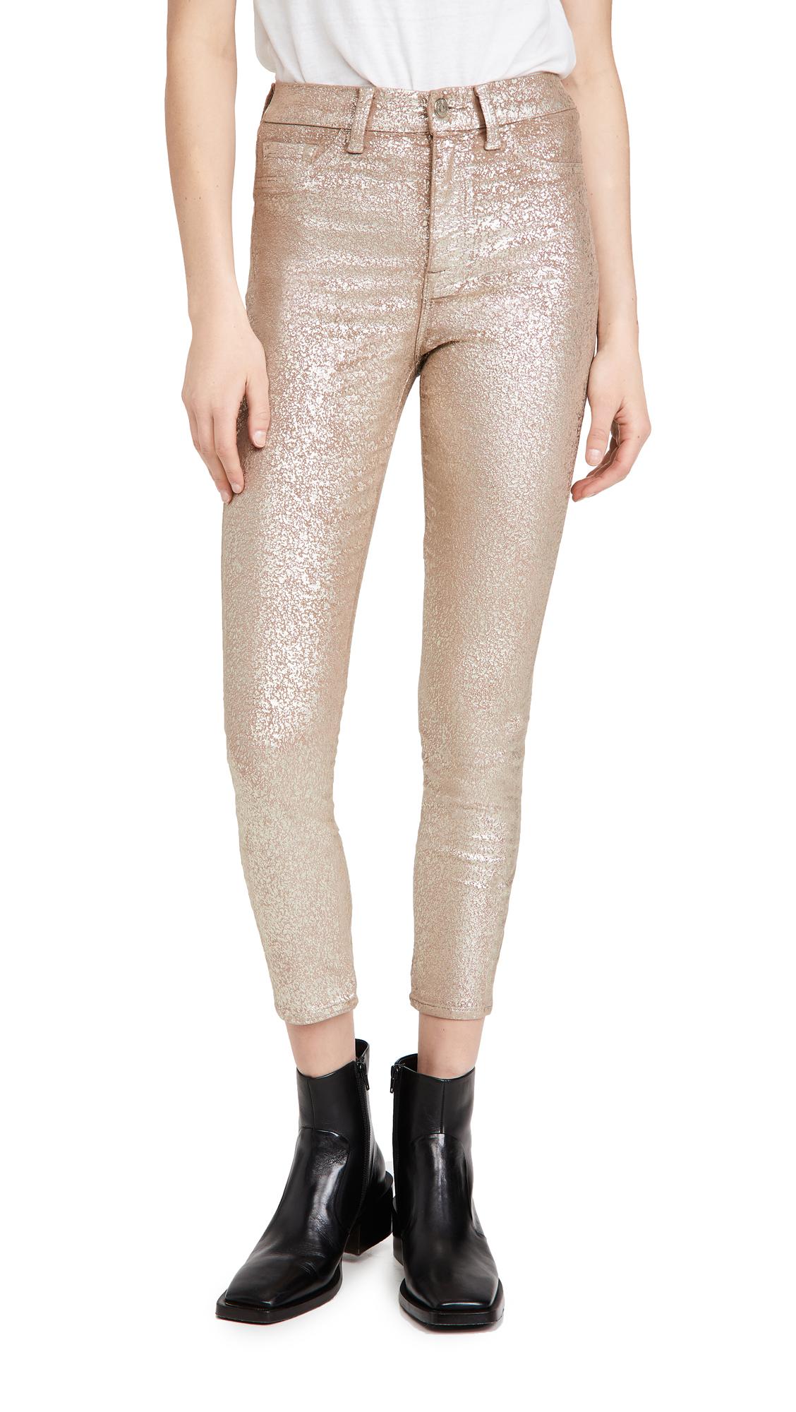 7 For All Mankind Ankle Skinny Velvet Jeans