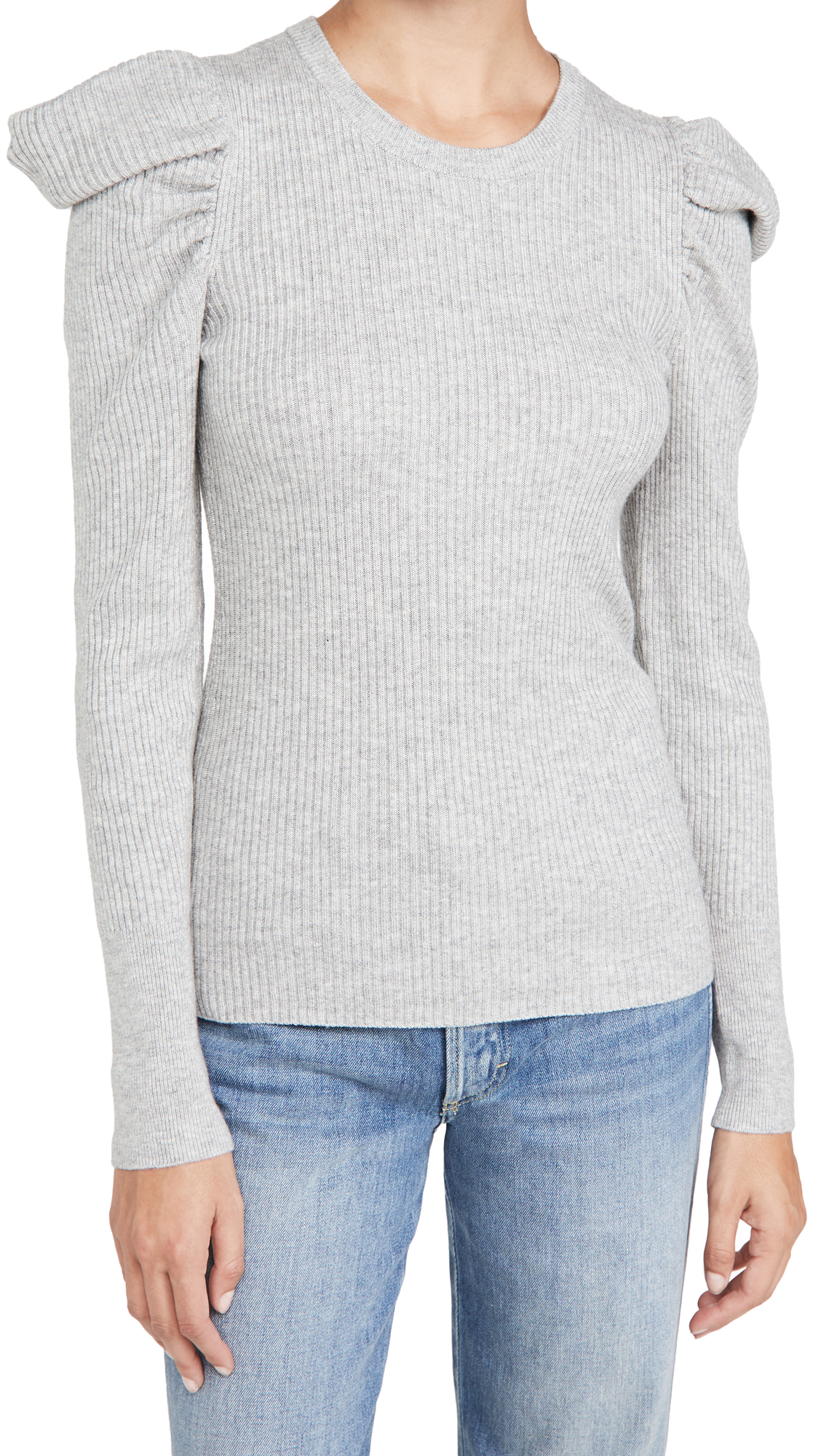 7 For All Mankind Puff Crew Neck Top
