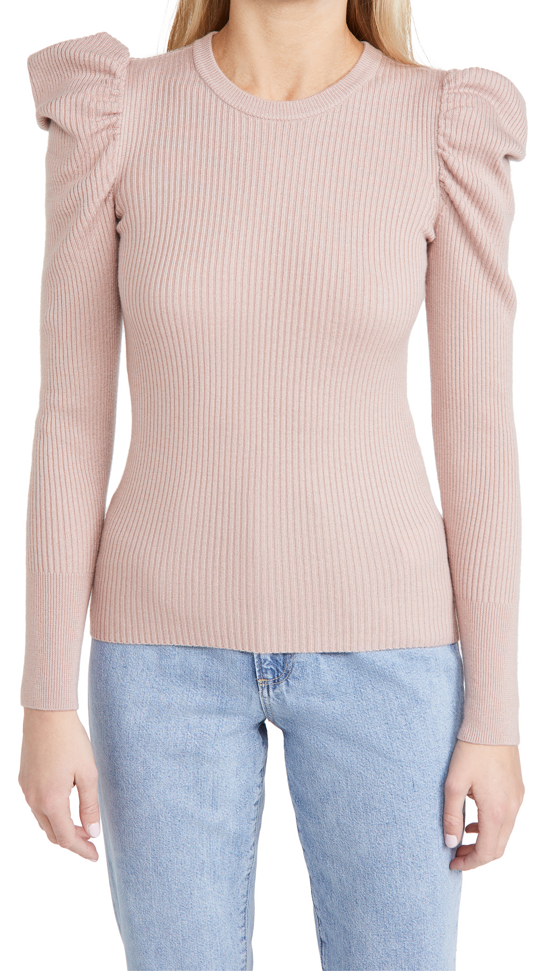 7 For All Mankind Puff Crew Neck Sweater
