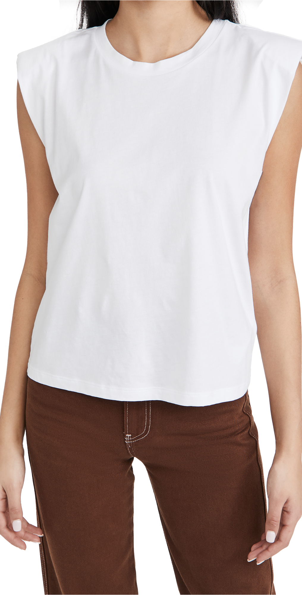 7 For All Mankind Shoulder Pad Tee