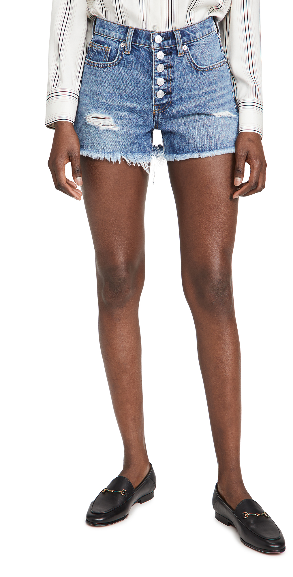 7 For All Mankind Monroe Cut Off Shorts