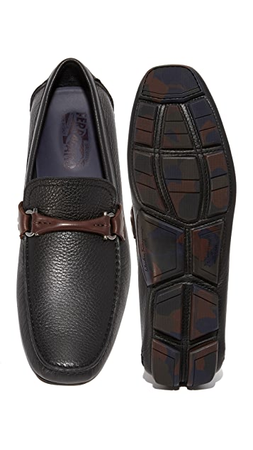 Salvatore Ferragamo Granprix Leather Bit Drivers