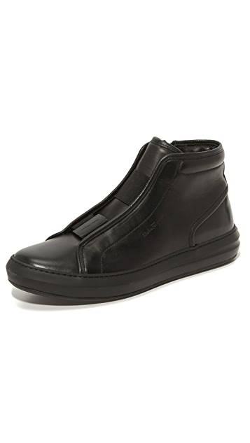 Salvatore Ferragamo Ground Leather High Top Sneakers