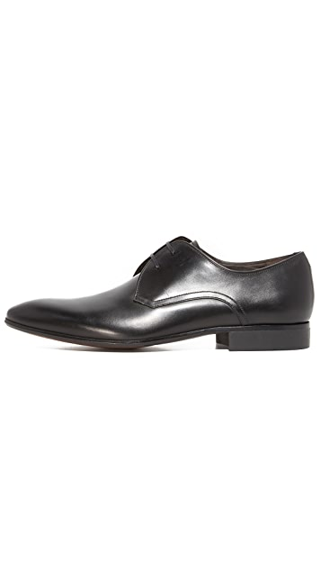 Salvatore Ferragamo Marte Plain Toe Lace Up Shoes