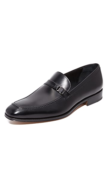 Salvatore Ferragamo Destin Apron Toe Bit Loafers