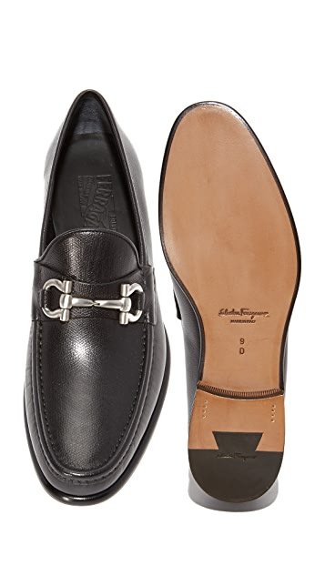 Salvatore Ferragamo Mason Bit Leather Loafers