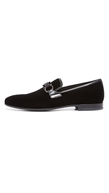 Salvatore Ferragamo Party Velvet Loafers