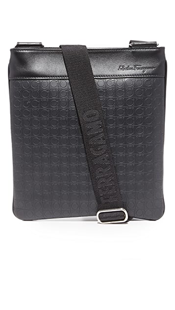 Salvatore Ferragamo Gamma Leather Small Messenger Bag