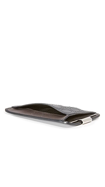 Salvatore Ferragamo Gamma Leather Money Clip