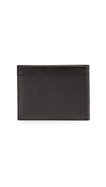 Salvatore Ferragamo Gancio Two Leather Bi Fold Wallet