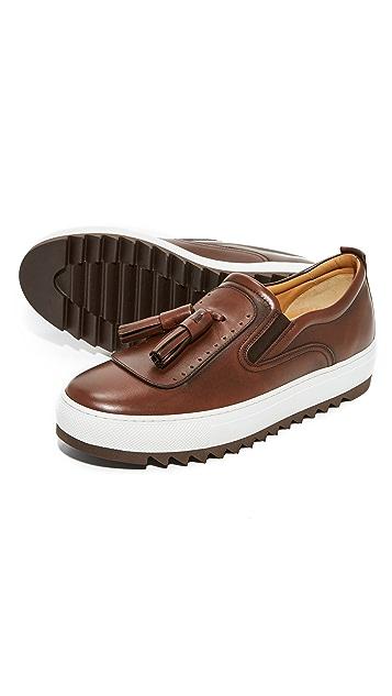 Salvatore Ferragamo Lucca Tassel Slip On Sneakers