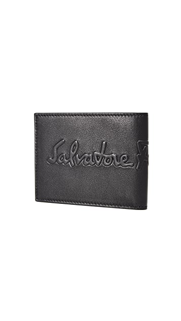 Salvatore Ferragamo Kentucky Debossed Wallet