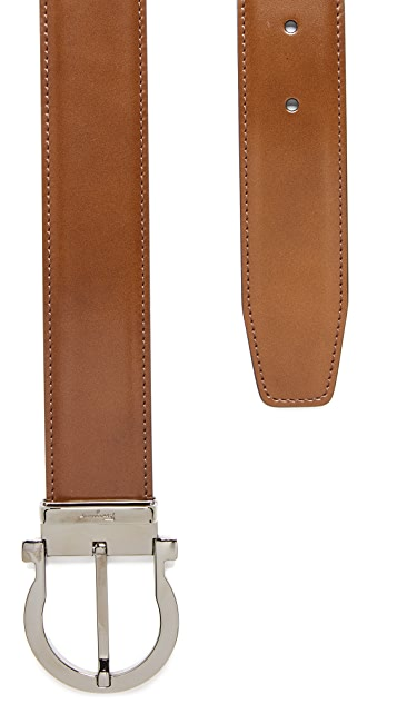 Salvatore Ferragamo Single Gancini Reversible Belt
