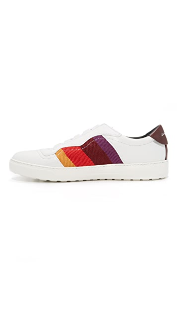 Salvatore Ferragamo Divo Stripe Sneakers