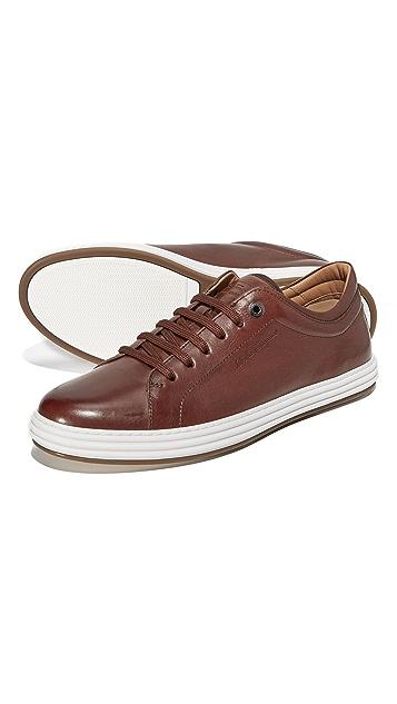 Salvatore Ferragamo Newport Leather Sneakers